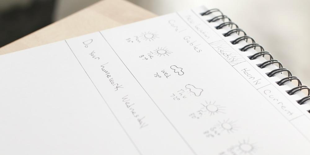 Homework Forecast Sketch