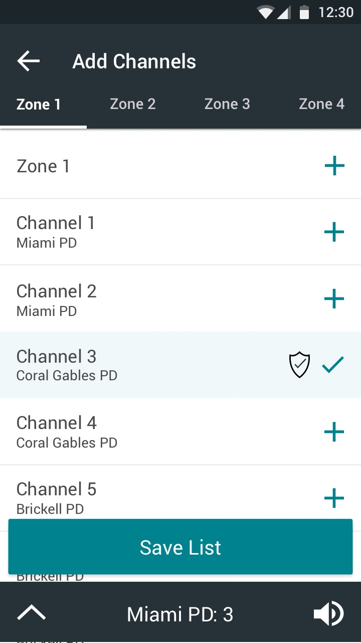 BlueLine Design of the Add Channels to Scan List Page