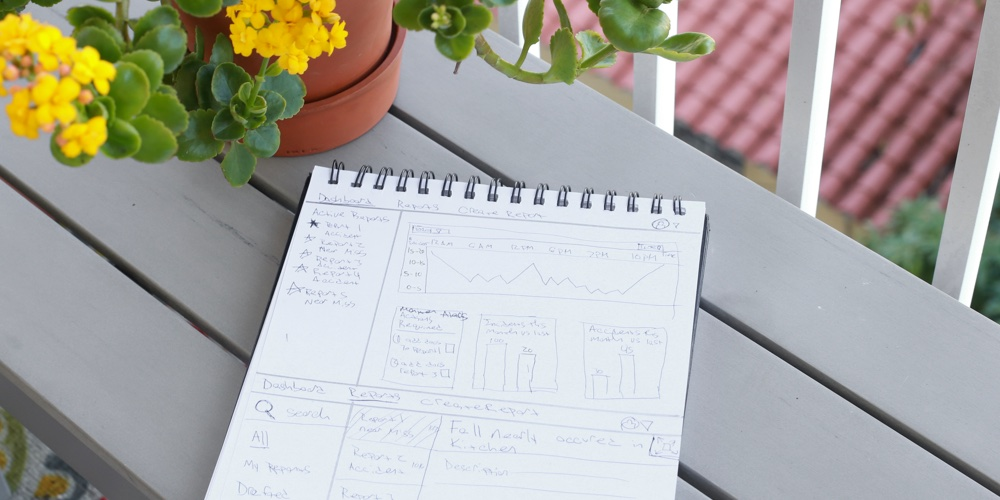 Initial sketches of the Sunnyside administrator dashboard
