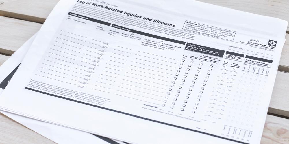 Printed OSHA forms